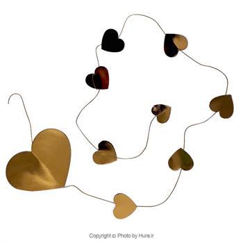 آویز قلب متالایز طلایی