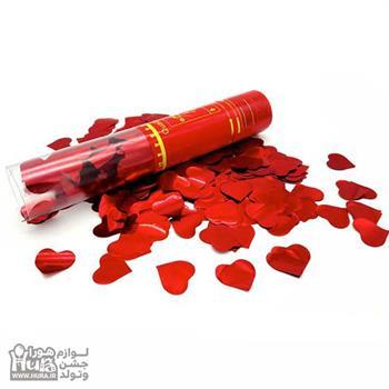 استوانه شادی 30 سانت طلقی قلب دار  براق
