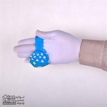 بادکنک آبی با چاپ ستاره سفید 12 اینچ