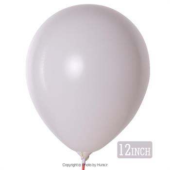 بادکنک مات سفید گچی تایلندی 12 اینچ