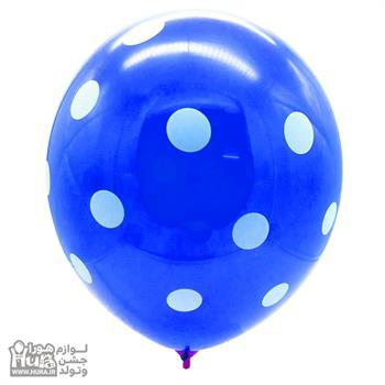 بادکنک آبی با خال سفید 12 اینچ 100 عددی