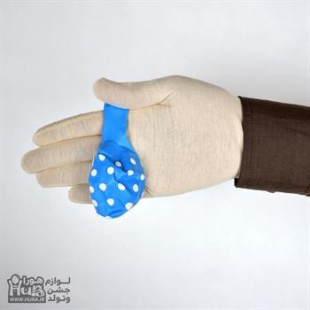 بادکنک آبی با خال سفید 12 اینچ