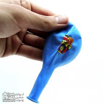 بادکنک آبی چاپ تم بارسلونا 12 اینچ