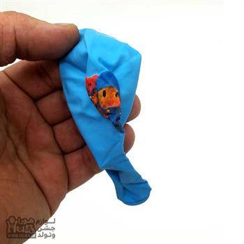 بادکنک آبی چاپ پوکویو و الی 12 اینچ
