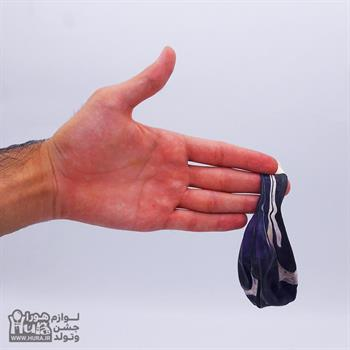بادکنک ابروبادی سفید بنفش 12 اینچ