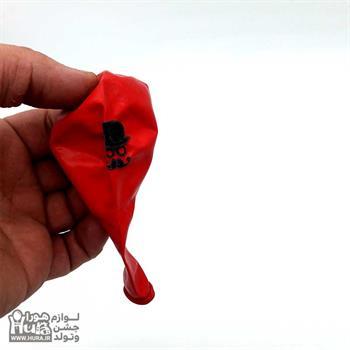 بادکنک گرد قرمز چاپ سیبیل 12 اینچ