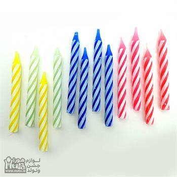 شمع تولدی 12 عددی درشت پـایه دار
