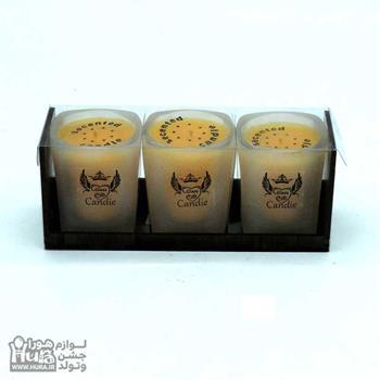 شمع 3 عددی استکانی CANDIE