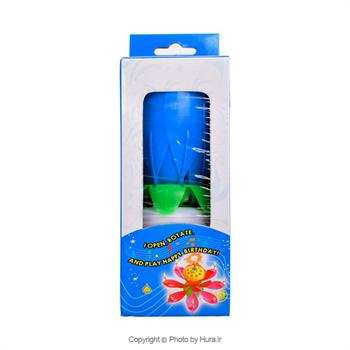شمع های گل موزیـکال گردان آبی