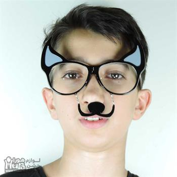 عینک فانتزی گربه ای سیبیل دار زرد