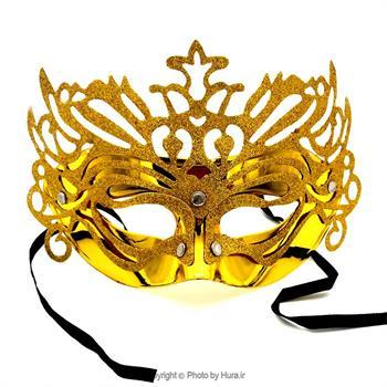 نقاب نیم چهره اکلیلی طلایی