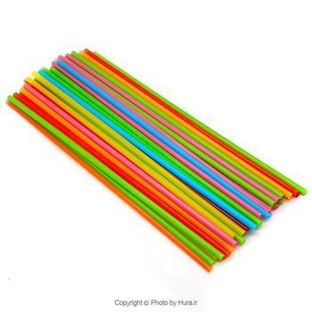 نی وکلیپس بادکنک فویلی 50 عددی چند رنگ