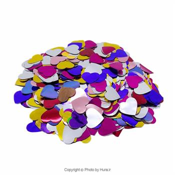 پولک قلبی داخل بادکنک 10 گرمی قطر 15 میل چند رنگ