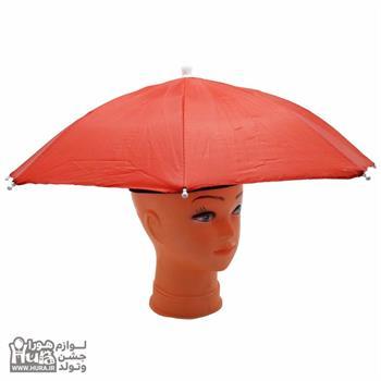 چتر روی سر قطر 60سانت قرمز