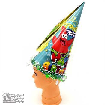 کلاه بوقی بلند زری دار باب اسفنجی مدل 2