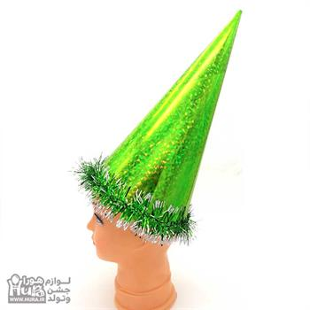 کلاه بوقی بلند لیزری با نخ اعلاء سبز مدل 3