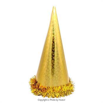 کلاه بوقی بلند لیزری با نخ اعلاء طلایی مدل 1