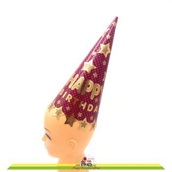 کلاه بوقی متوسط ستاره طلاکوب سرخابی