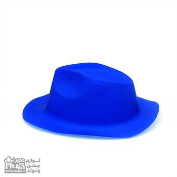 کلاه طلقی شاپو بلک لایت فسفری ساده رنگ آبی
