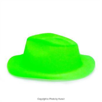 کلاه طلقی شاپو بلک لایت فسفری ساده رنگ سبز