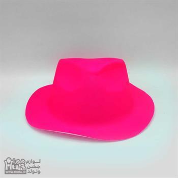 کلاه طلقی شاپو بلک لایت فسفری ساده رنگ صورتی