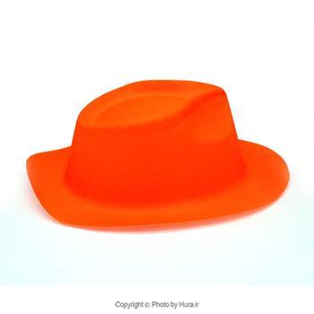 کلاه طلقی شاپو بلک لایت فسفری ساده رنگ نارنجی