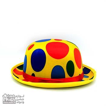 کلاه لبه دار بلند انگلیسی ساتن زرد توپی