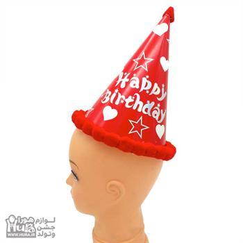 کلاه های بوقی کوتاه توپکی فانتزی قرمز قلب و ستاره ط 15
