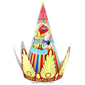 کلاه پادشاه متوسط طلا کوب طرح 8 سرخابی