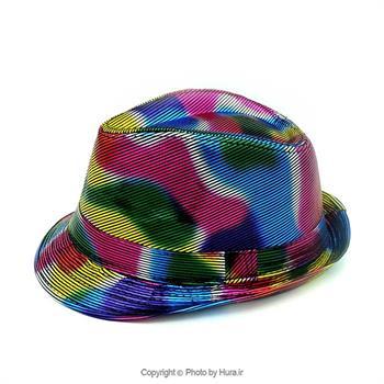 کلاه پارچه ای شاپو هفت رنگ لیزری کبریتی ط 7
